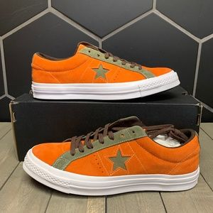 New Converse One Star Ox Low Orange Green Sneakers